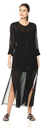 Theory Women's 3/4 Sleeve Weekend Buttondown Maxi Dress