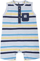 Petit Lem Striped Sleeveless Knit Playsuit, Gray/Multi, Size 3-9M