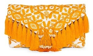 Dries Van Noten Embroidered Fringe Bag