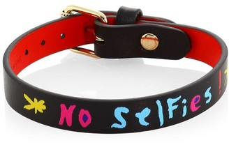 Christian Louboutin Writing Leather Bracelet