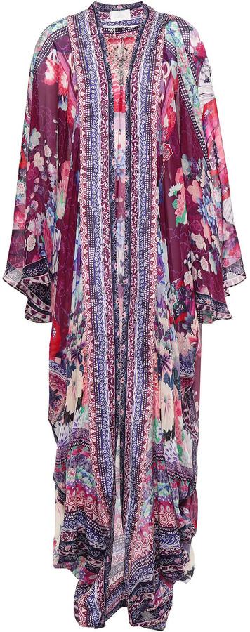 Camilla Little Osaka Girl Embellished Printed Silk-chiffon Kimono