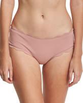 Marysia Swim Spring Scalloped Boy-Cut Bikini Swim Bottom