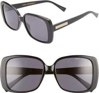 Marc Jacobs 55mm Rectangular Sunglasses