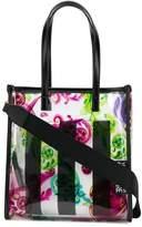 Versace transparent baroque print tote bag