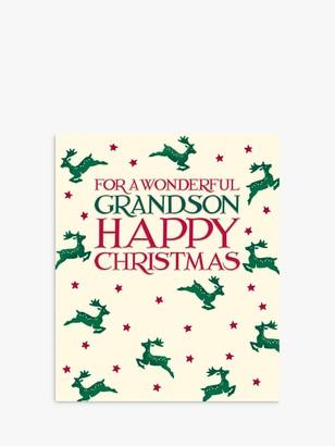 Woodmansterne Reindeer Grandson Christmas Card