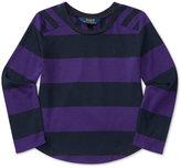 Ralph Lauren Bold Striped Long-Sleeve Shirt, Toddler & Little Girls (2T-6X)