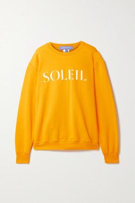 PARADISED Printed Cotton-blend Jersey Sweatshirt - Saffron