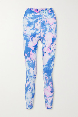 YEAR OF OURS Veronica Tie-dyed Stretch Leggings - Blue
