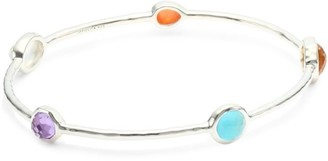 Ippolita Rock Candy Sterling Silver & Multi-Stone 5-Station Bangle Bracelet