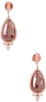 Artisan Women's Pear Drop Shape Ice Diamond Earrings