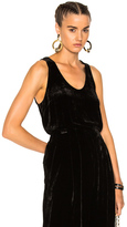 Raquel Allegra Velvet Sport Tank Top in Black.