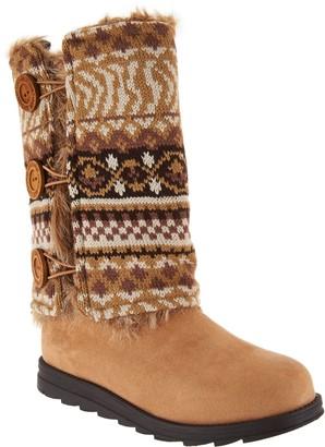 Muk Luks Andrea 4-in-1 Boot w/Reversible Boot Sweater