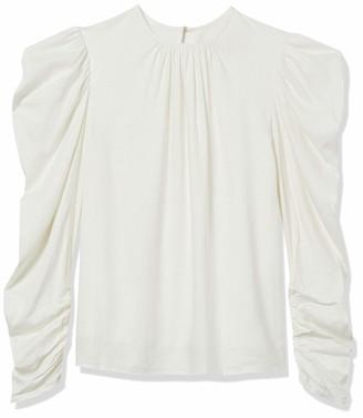 Keepsake Women's Wistful High Neck Long Puff Sleeve Ruffle Top