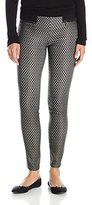 My Michelle Juniors Printed Straight Leg Pants with Elastic Back and Zipper Front