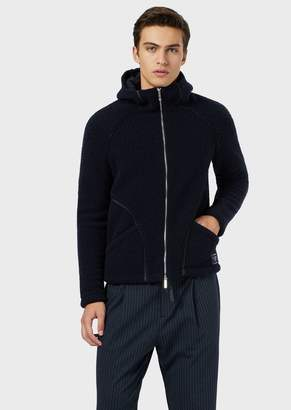 Emporio Armani Blended-Wool, Shearling-Style Blouson