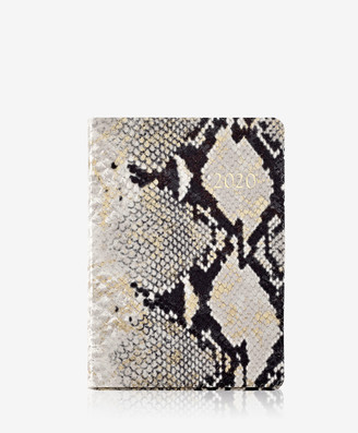 GiGi New York 2020 Notebook, Gold Wash Embossed Leather