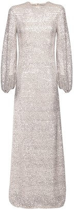 Rochas Sequined Long Dress