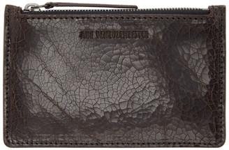 Ann Demeulemeester Brown Corteccia Zip Wallet