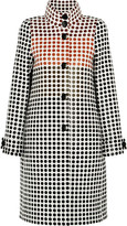 Bottega Veneta Paneled polka-dot wool coat