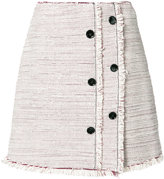 Proenza Schouler button detailing skirt - women - Acetate/Silk/Cotton - 2