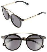 A. J. Morgan Women's A.j. Morgan 'Loop' 50Mm Retro Sunglasses - Black