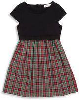 Vineyard Vines Toddler's, Little Girl's & Girl's Holiday Plaid Mixed Media Dress