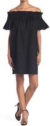 Pleione Off-the-Shoulder Shift Dress