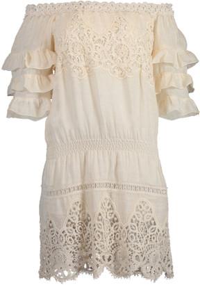 Temptation Positano Cali Off Shoulder Ruffle Dress