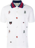 Gucci embroidered polo shirt
