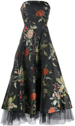 Sachin + Babi floral print strapless dress