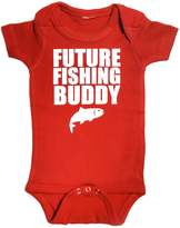 BabyApparels Future Fishing Buddy Baby Bodysuit (3-6)