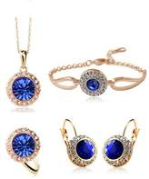 Acefeel Sale At Cut-throat Prices Cheap Crystal Earring Necklace Ring Bracelet Jewelry Set
