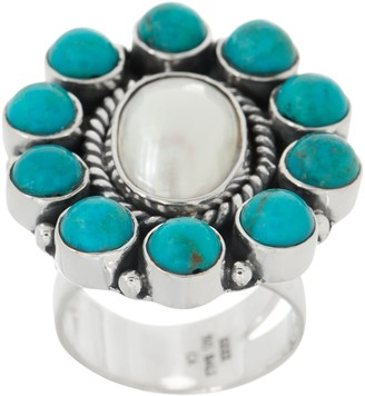 Exex Design By Claudia Agudelo EXEX by Claudia Agudelo Sterling Silver Gemstone Cluster Ring