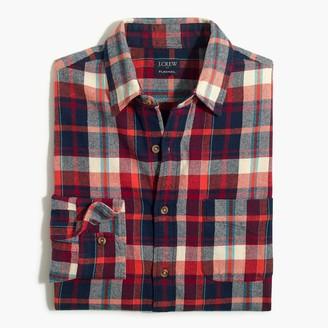 J.Crew Plaid regular flannel shirt