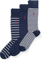 Ralph Lauren Striped Trouser Sock 3-Pack