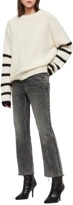AllSaints Eldon Stripe Sleeve Sweater