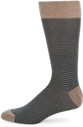 Saks Fifth Avenue Made In Italy Colorblock Striped Crew Socks
