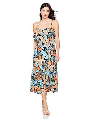 Elise Bloom Women Summer Floral Printed V Neck Split Beach Party Boho Maxi Dress