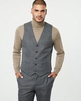Le Château Check Print Contemporary Fit Vest