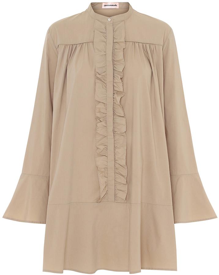 custommade Incense Cotton Gytta Dress - 36 - Natural