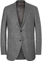 Ermenegildo Zegna Slim-Fit Puppytooth Trofeo Wool, Silk, Linen and Cashmere-Blend Blazer