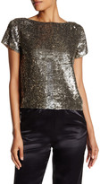 Alice + Olivia Sarita Sequined Blouse