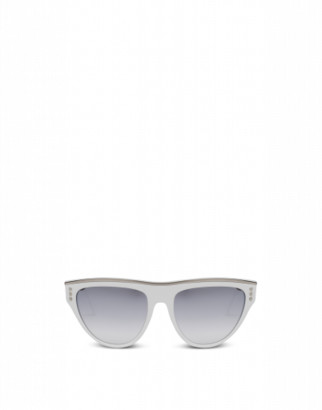 Moschino Sunglasses With Lettering Logo Woman White Size Single Size