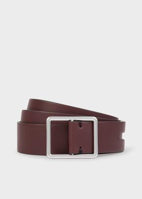 Paul Smith Women's Brown Calf Leather Loop Belt