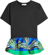 Emilio Pucci Cotton Top with Printed Peplum