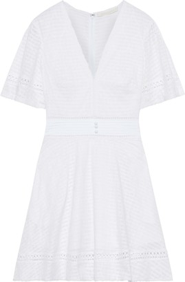 Jonathan Simkhai Broderie Anglaise Cotton-jacquard Mini Dress