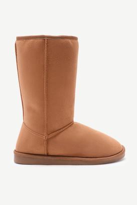 Ardene Sherpa Moccasin Boots