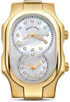 Philip Stein Teslar Signature Small Gold Ion-Plated Diamond Dial Watch Head, 27mm