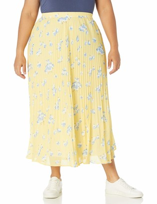 Chaps Women's Plus Size Long Pleated Skirt