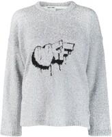 Off-White Off White Off crew neck jumper